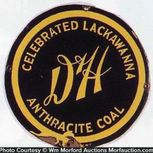 D & H Lackawanna Coal Sign