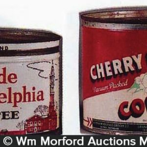 Vintage Key Wind Coffee Cans