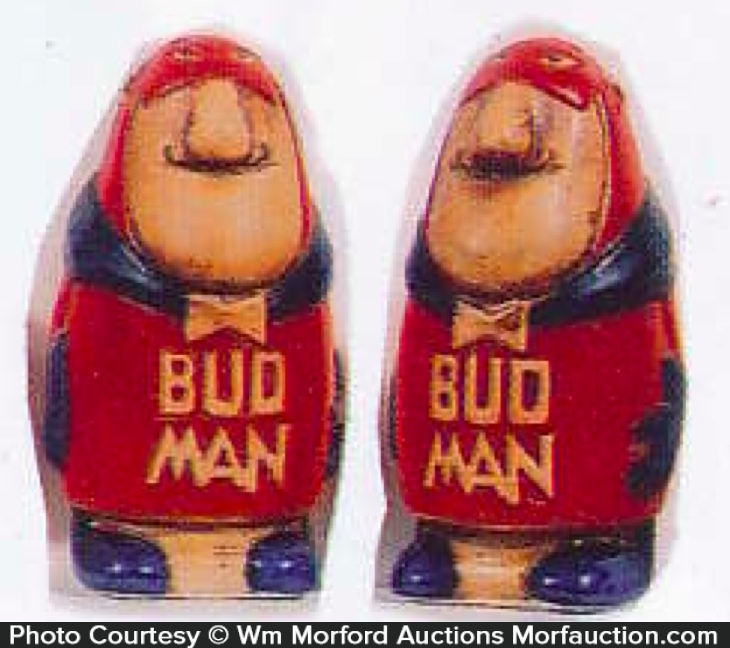 Bud Man Salt Shakers