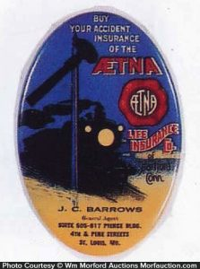 Aetna Insurance Pocket Mirror