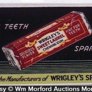 Wrigley's Sweet Laurel Gum Sign