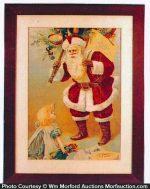 Santa Clause Soap Sign