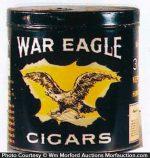 War Eagle Cigars Can