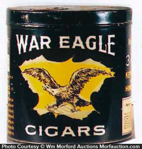 War Eagle Cigars Can