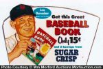 Sugar Crisp Baseball Book Sign