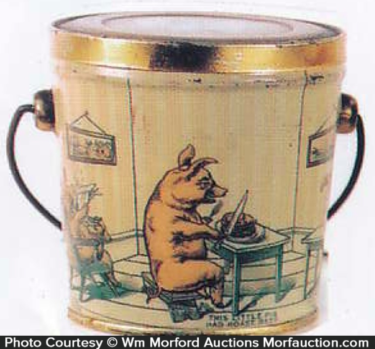 Three Pigs Candy Pail