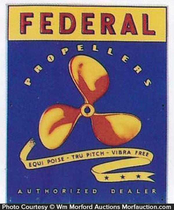 Federal Marine Propellers Sign