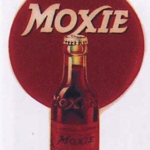 Moxie Bottle Hanging Sign