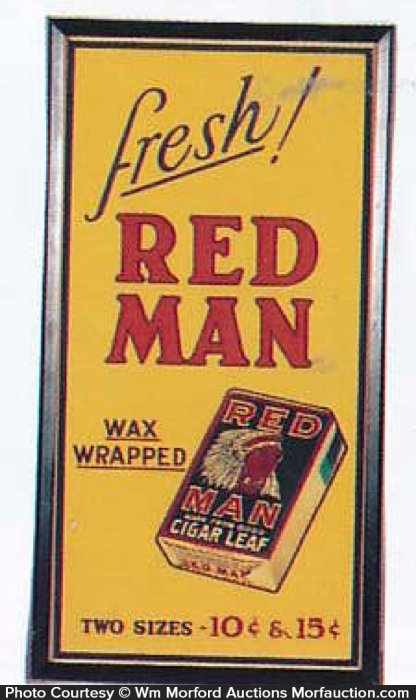 Red Man Tobacco Sign