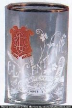 Centlivre Etched Beer Glass