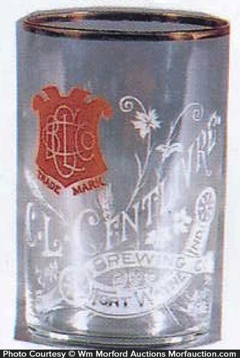 Centlivre Etched Beer Glass