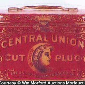 Central Union Tobacco Tin Pail