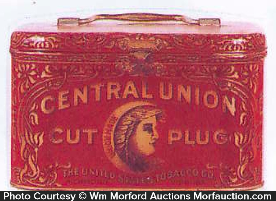 Central Union Tobacco Tin Pail