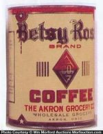 Betsy Ross Coffee Can