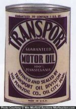 Pennzoil Transport Oil Can