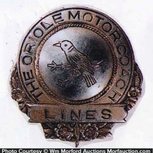 Oriole Motors Cap Badge