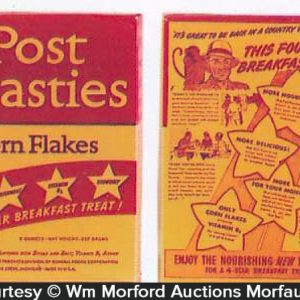 Post Toasties Corn Flakes Box