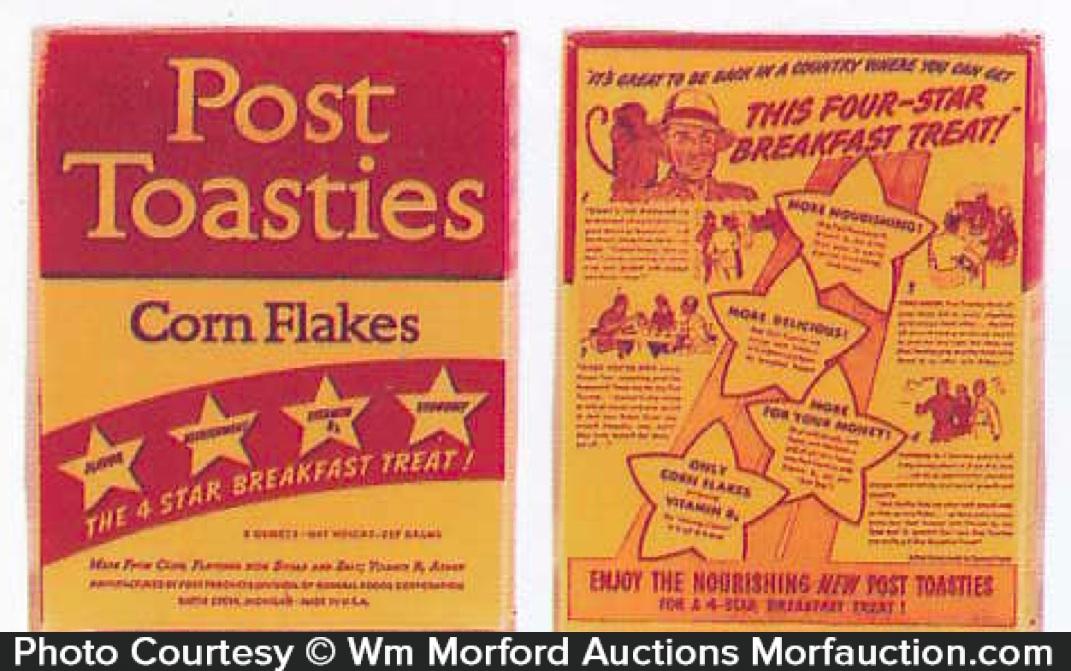 Post Toasties Corn Flakes Box