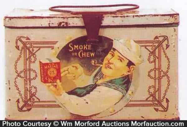Us Marine Tobacco Tin Pail