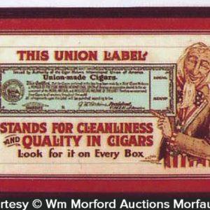 Union Cigar Labels Sign