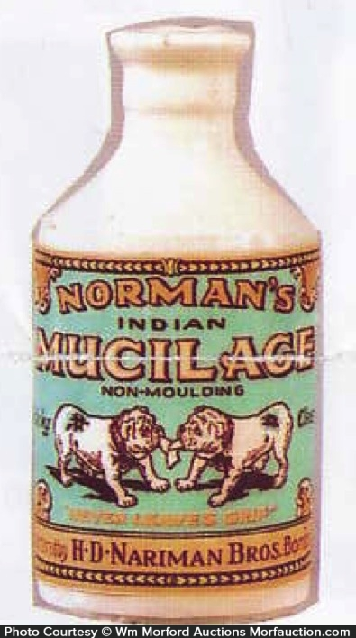Norman's Indian Mucilage Bottle