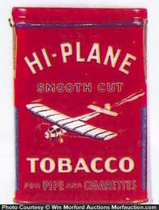 Hi-Plane Tobacco Tin