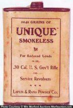 Unique Smokeless Gun Powder Tin