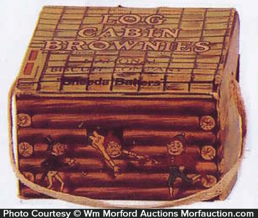 Log Cabin Brownies Box