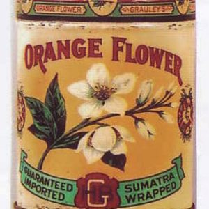 Orange Flower Cigar Can