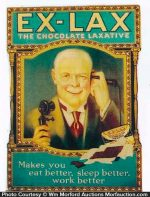 Ex-Lax Chocolate Laxatives Sign