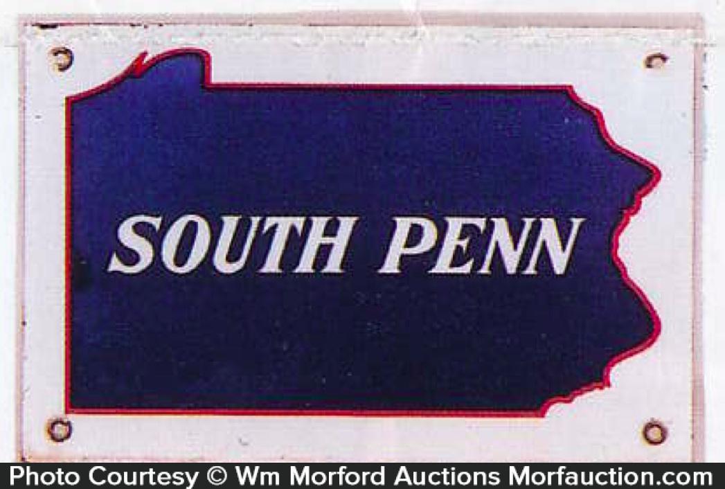South Penn Porcelain Sign