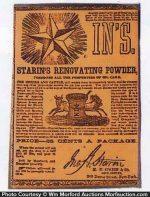 Starin's Renovating Powder Box