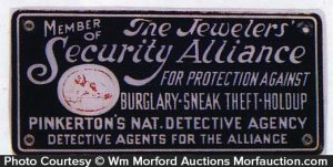 Pinkerton's Security Alliance Sign
