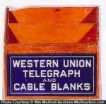 Western Union Telegraph Blanks Holder