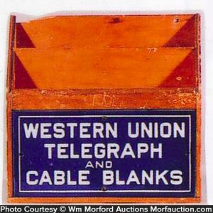 Western Union Telegraph Blanks Holder