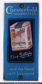 Chesterfield Cigarettes Door Push