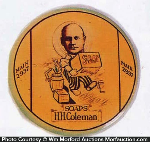 Coleman Soap Paperweight Mirror