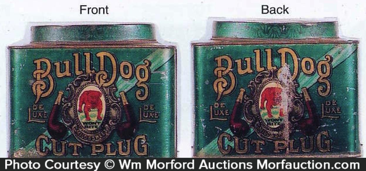 Bull Dog Tobacco Tin Can