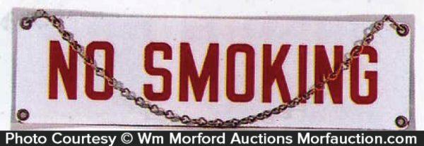 No Smoking Chain Sign