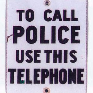 Police Telephone Sign