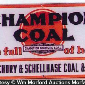 Champion Coal Sign