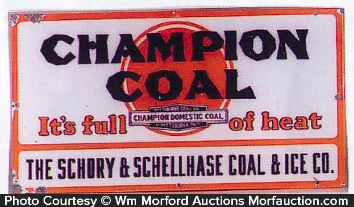 Champion Coal Sign