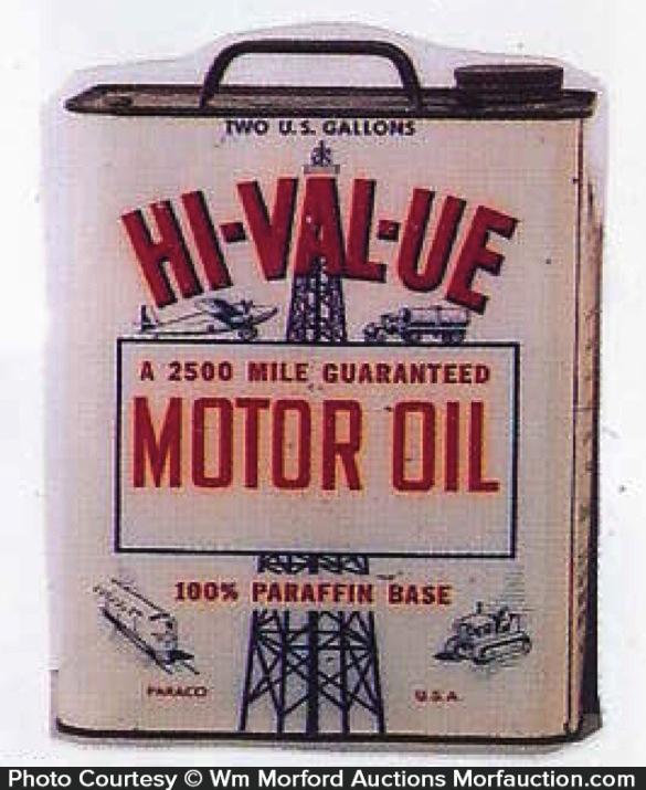 Hi-Val-Ue Oil Can