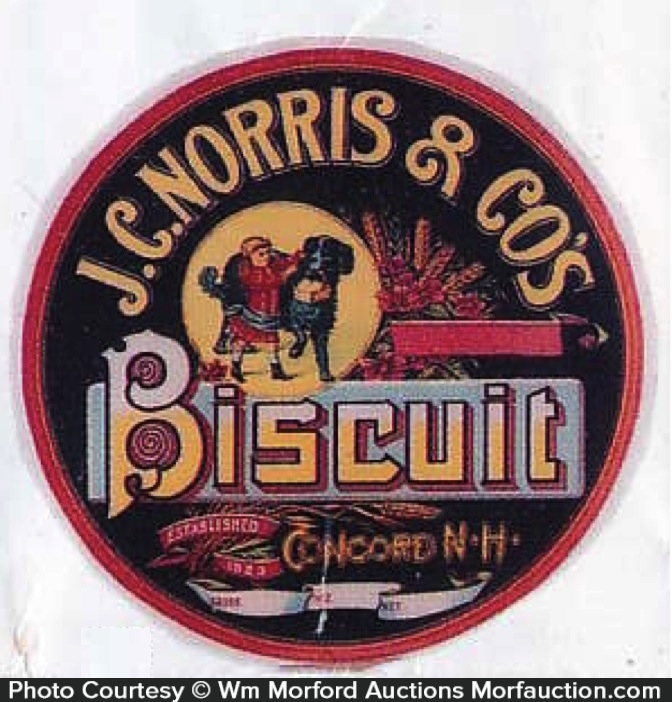 Morris Biscuit Barrel Label