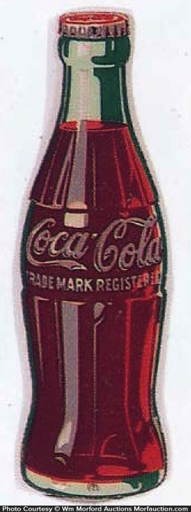 Porcelain Coke Bottle Sign