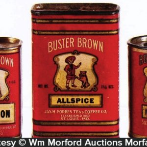 Vintage Buster Brown Spice Tins