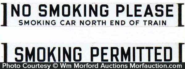 Porcelain Railroad Smoking Sign