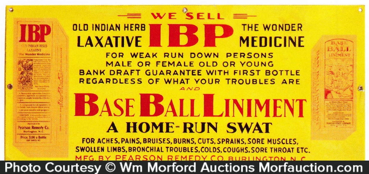 Baseball Liniment Sign