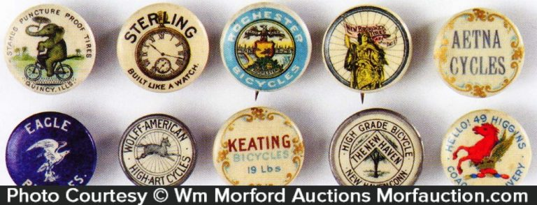 Vintage Bicycle Buttons