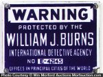 Burns Detective Agency Sign
